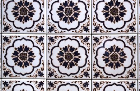 spanish tile: Spanish tile on a wall