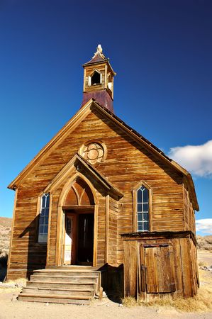 A church abandoned in the ghost town of Bodie, California photo