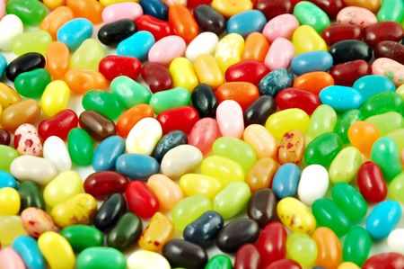 Jelly beans arranged in a pile useful for a background Stock Photo - 640860