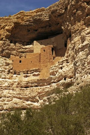 the dwelling: Ancient Native American dwelling at Montezumas Castle National Monument, Camp Verde, Arizona