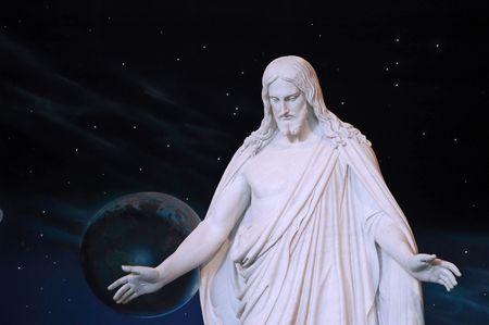 universal love: Replica estatua de Jesucristo conocida como El Christus en el Morm�n Centro de Visitantes en Temple Square, Salt Lake City, Utah