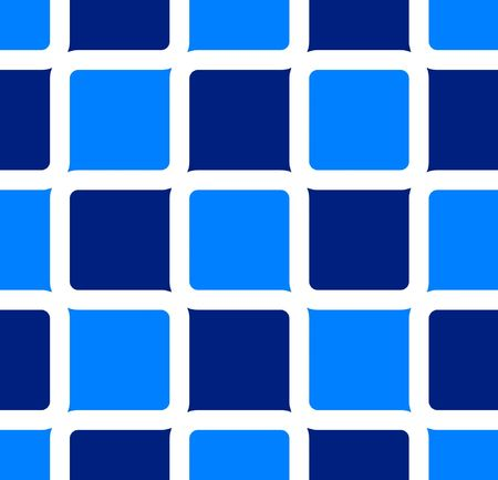 Retro abstract of rounded squares in hues of blue Imagens