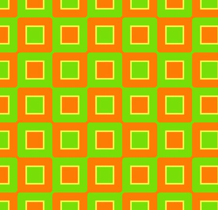 Retro abstract of rounded squares in orange, lime green and yellow Stock Photo - 919151