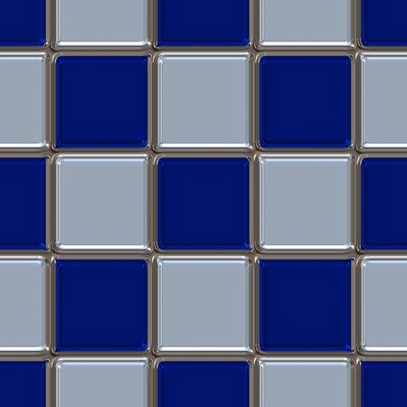 Metallic rounded tile squares in dark blue and grey