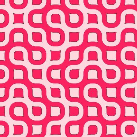 Retro resumen redondeado de plazas en diferentes tonalidades de rosa con el marrón de corte Foto de archivo - 926908