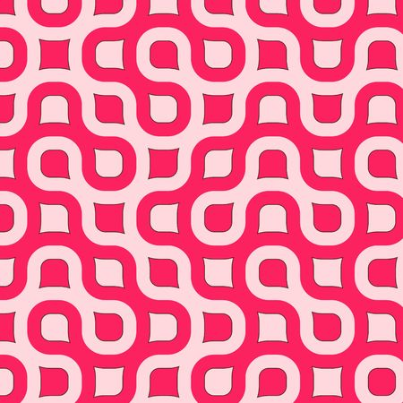Retro resumen redondeado de plazas en diferentes tonalidades de rosa con el marr�n de corte Foto de archivo - 926908