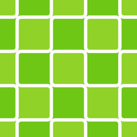 Retro abstract of rounded squares in different hues of lime green