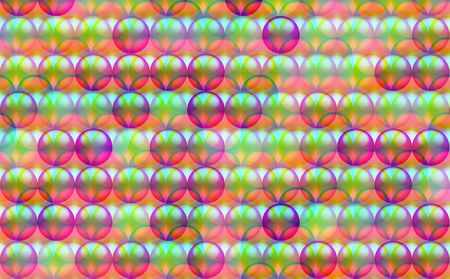 Overlapped circles on a multi-colored background suitable for wallpaper