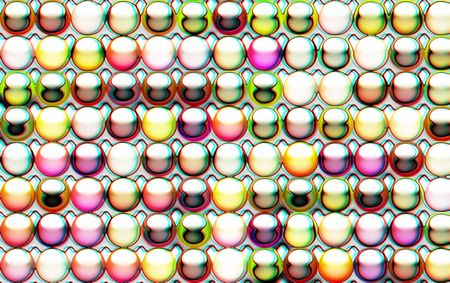 Abstract of 3D gel buttons suitable for a background