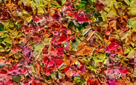 Abstract of a burst of metallic spring or summer colors suitable for a background