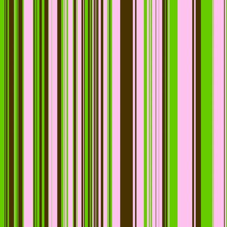 Striped pattern in pastel pink, lime green and chocolate brown for use as a background Standard-Bild