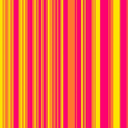 Striped pattern in retro pink, orange and yellow for use as a background