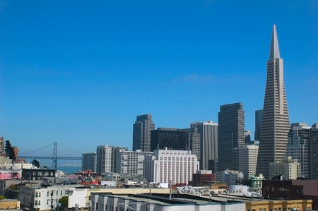 transamerica: Downtown San Francisco from a rooftop overlooking Chinatown and North Beach