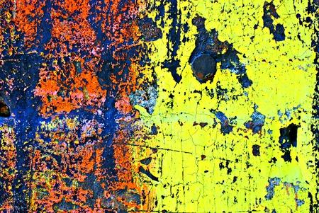 El deterioro de paredes de ladrillo pintadas estilizadas con efectos grunge (parte de una serie de fotos ilustraci�n)  Foto de archivo - 1511699