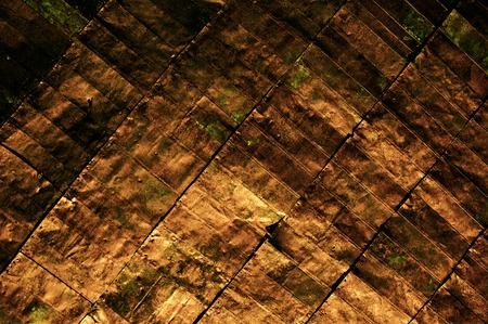 deteriorate: Closeup of rustic sheet metal suitable as an abstract background