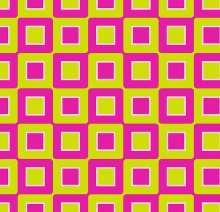 Retro abstract of rounded squares in hot pink and lime green Stock Photo - 1582807