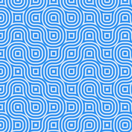 Retro abstract of rounded squares in different hues of blue Imagens
