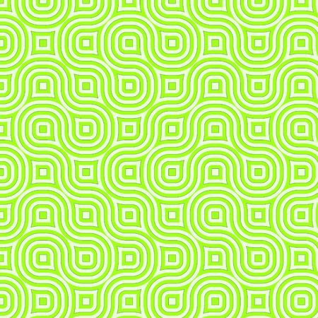 hues: Retro abstract of rounded squares in different hues of green Stock Photo