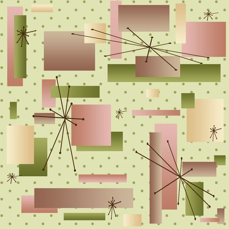 Retro background reminiscient of the styles of the late 50s and early 60s (vector) Stock Photo - 1961836