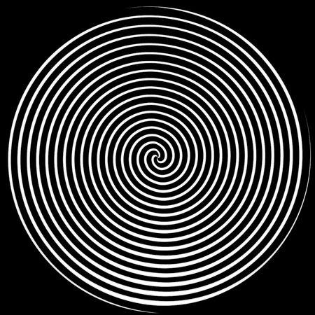 目まいが白と黒の spiralling ライン