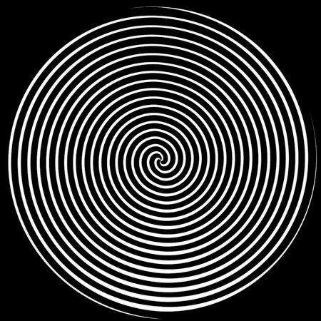 illusions: Dizzying spiralling lines in black and white