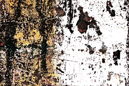 Deteriorating painted brick wall stylized with grunge effects (part of a photo illustration series)
