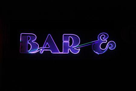 Illuminated purple neon sign reading Stock Photo - 2090283