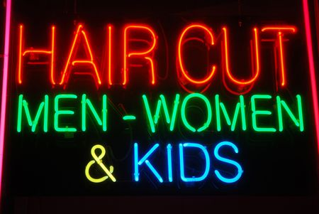 Illuminated Hair Cut Men - Women & Kids neon sign
