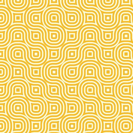 hues: Retro abstract of rounded squares in different hues of yellow