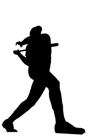 homerun: Illustration of a baseball player hitting a home run
