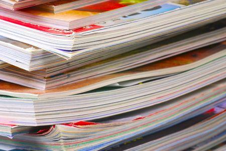 雑誌の様々 な大規模なスタック
