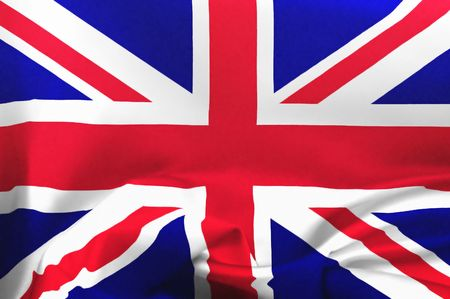 brit: Illustration of a flag of the United Kingdom with ripples Stock Photo