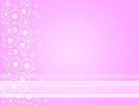 ベクトル イラストのピンクと白の線、円、星の背景