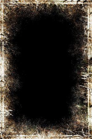 白とセピア苦痛ラインで汚れた黒い黒板のイラスト 写真素材