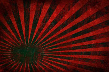 Grungy uiteenspatten van lichtstralen op een oud rood leder textuur