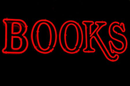 Neon sign advertising books for sale Stock Photo - 2626638