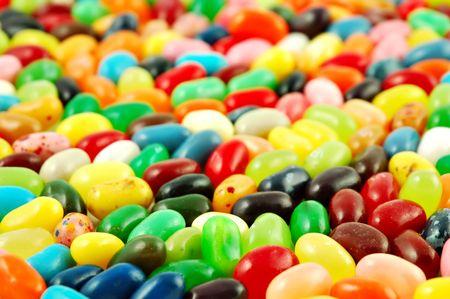 カラフルなゼリー豆の背景 写真素材