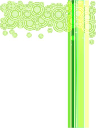 green lines: Trendy retro stars and lines in pastel green, yellow and white