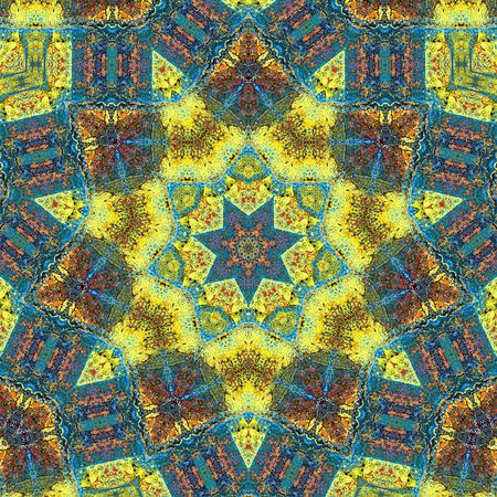 Kaleidoscope made with various colors from autumn 版權商用圖片