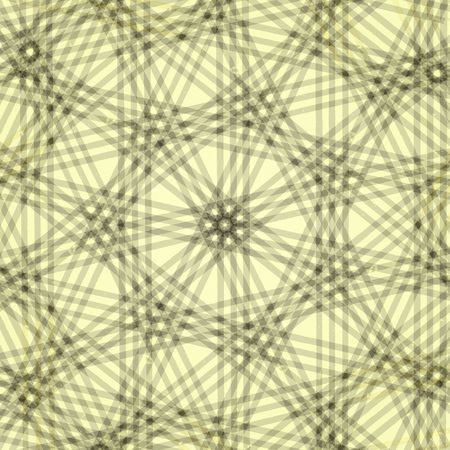 deteriorate: Kaleidoscope of grungy gray lines on a pale yellow background