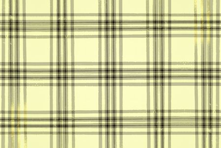 deterioration: Grunge illustration of a pale yellow plaid pattern Stock Photo