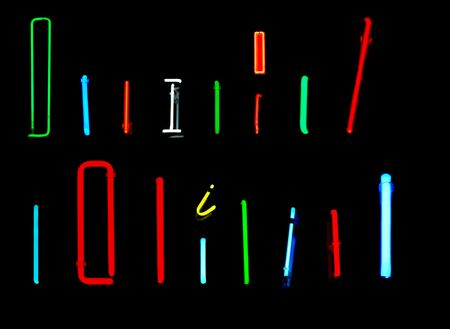 Neon letters I collected from neon signs for design elements Stock Photo - 2772345