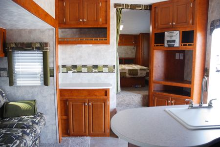 Interior of a 5th wheel recreational vehicle