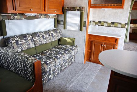 recreational: Interior of a 5th wheel recreational vehicle
