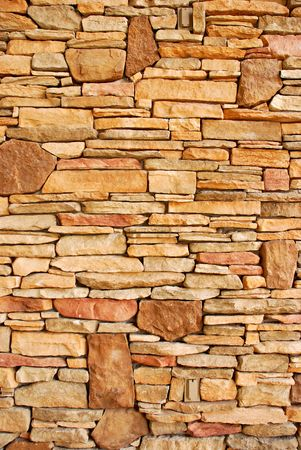 Flat rocks layered to form a solid wall Stok Fotoğraf