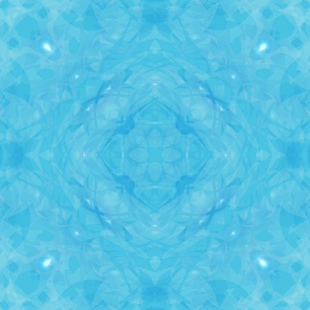 mandala: Kaleidoscope illustration with light blue and white Stock Photo