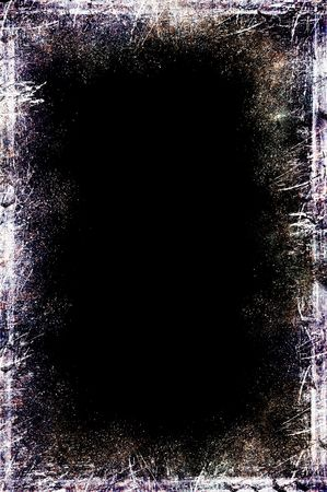 Illustration of a grungy black chalkboard with white and sepia distress lines Stock Illustration - 3141002