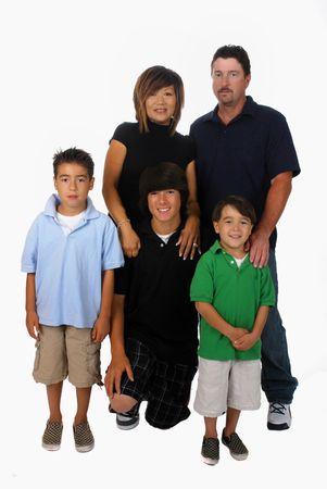 blended: Portrait of a blended Asian-Caucasian family