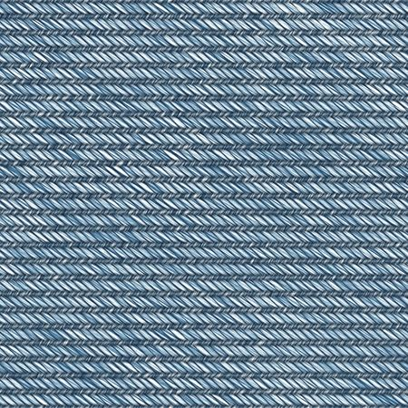 Illustration of jean fabric with blue and white thread