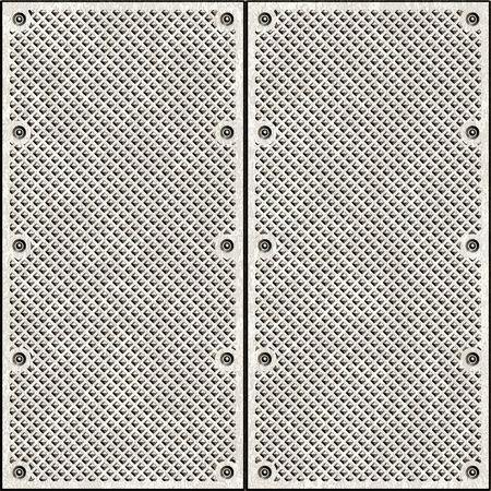 ironworks: Illustration of old diamond plate metal